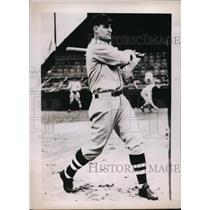 1938 Press Photo Zeke Bonura 1st baseman of White Sox at practice - nes29536