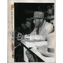 1948 Press Photo Pete Lightner Press Box World Series Cleveland, Ohio