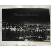 1941 Press Photo Seattle Wash, night city wide black out test - nee52006