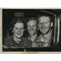 1939 Press Photo Springfield Ill- Mrs. Hunter Moody, Hunter and Humphrey Moody.