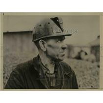 1939 Press Photo D.H. Kelso escaped injury in a gas explosion in Hubbard Mine.
