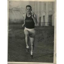1937 Press Photo Bob Lewis OSU track star from Akron - nes28035
