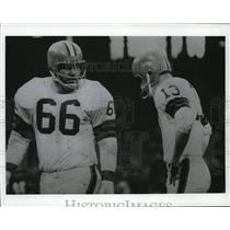 1969 Press Photo Cleveland Browns Gene Hickerson and Ryan Frank