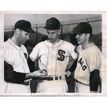 1949 Press Photo Chicago White Sox Pitcher Floyd Bevens Randy Gumpert