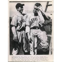 1945 Press Photo Batboy Dick Whittington Tries Out For Cleveland Indians