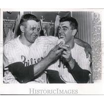 1952 Press Photo Philadelphia Phillies Southpaw Curt Simmons
