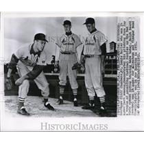 1952 Press Photo Cliff Chambers of the St Louis Cardinals at spring training