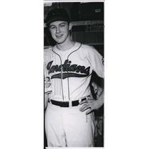 1948 Press Photo Dick Rozek of Cleveland Indians
