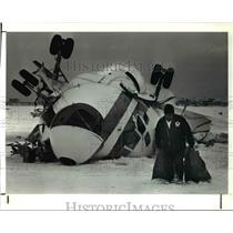 1991 Press Photo Wreckage of a DC-9 cargo plane