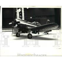 1980 Press Photo Model Cook Cleveland's 1949 Thompson plane