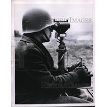1955 Photo French soldier using SS-10 guided missile ground rocket