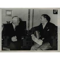 1936 Press Photo German Foreign Minister Konstantin Von Neurath and Italian