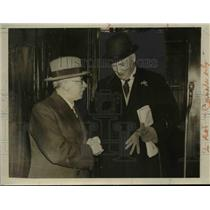 1931 Press Photo Canadian Premier R.B. Bennett, J.H. Thomas Leave London