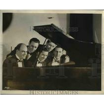 1930 Press Photo Arco Rondoliers with Arco Birthday Party At NBC Network.