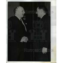 1940 Press Photo German Foreign Minister Walter Scheel & Soviet Minister Gromyko