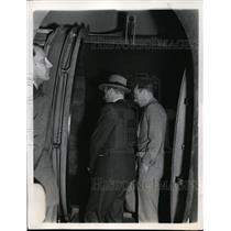 1939 Press Photo Crown Prince Olav of Norway, Professor Heinrich Peters at MIT