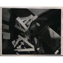 1936 Press Photo Henry Hemmendinger & Dr Donald H Menzel Expedition Director