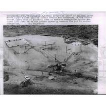 1961 Press Photo Ground Zero of Project Gnome where Kiloton Atomic detonates.