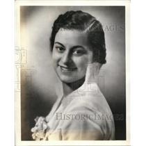 1936 Press Photo Maria Cristina Puga, Soprano And Radio Contestant Winner