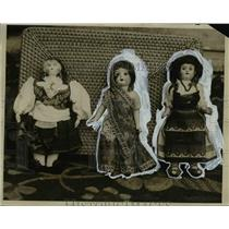1926 Press Photo Dolls Collected by Mrs W Kendall Evans by Round the World Trave