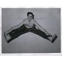 1957 Press Photo Frank Powers, Cleveland Cheerleader - nee63136