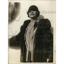 1929 Press Photo Mrs. Eide Norema, Chicago opera singer returnin g to New York.