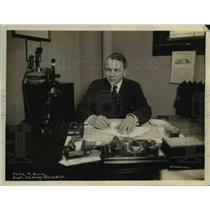 1918 Press Photo Verne M Bovie Supt US Army office in NYC