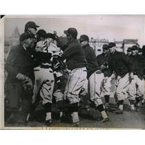 1935 Press Photo Cubs Bill Jurges vs Pirates Cookie Lavagetto - nes31219