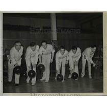 1940 Press Photo Detroit Golden Bears Bowling Team - nee57753