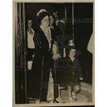 1933 Press Photo Mrs Elvira Machado wife of deposed Cuban President Gerardo M.