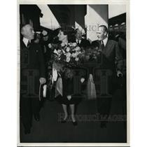 1939 Press Photo Crown Prince Olav, Princess Nartha of Norway in San Francisco