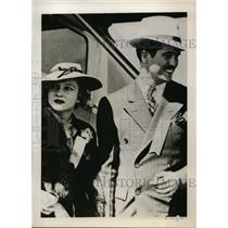 1937 Press Photo Thomas Warner Jr & Mrs Jean McDonald Love Captive in Mexico