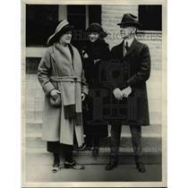 1923 Press Photo Charles A Blanet Kalamazoo Mich, Winifres Weickgenant
