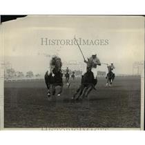 1930 Press Photo John Hay Whitney beats Capt. C.A Wilkinson to the ball