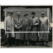 1928 Press Photo Fred Caley, Willoughby Gundry, Walter Weidly ,J Harry Killius,
