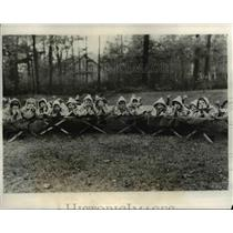 1931 Press Photo Boys & girls with TB take nap at Mohawkville School in NY
