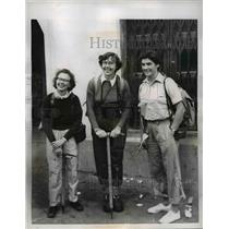 1955 Press Photo Mrs HM Jackson, Miss R E Stark and Dr. Evelyn Campbell.