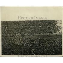1931 Press Photo Palmer Stadium crowd on field at Princeton-Navy game