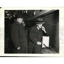 1934 Press Photo Union Pacific train with CM Lang & MC Schmidt - nex85714