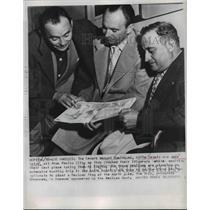 1957 Press Photo Los Angeles Senors Manuel Dominguez, Alfie Zavala & Jose Calva