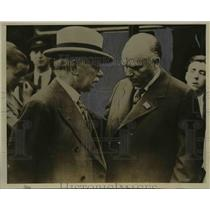 1933 Press Photo Prime Minister R B Bennet of Canada with J H Thomas
