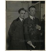 1916 Press Photo Theodore Roosevelt Jr & Joe Healey in NY