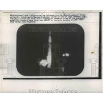 1958 Press Photo New York, US Satellite Launching Jupiter Missile Cape Canaveral