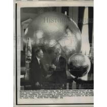 1958 Press Photo Chairman John McCormackD-Mass, Dr Hugh Dryden of NASA