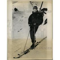 1931 Press Photo Y Kagami Japanese skiier at Mt Baker - nes33587