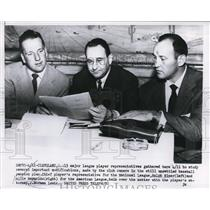 1954 Press Photo Cleveland Ralph Kiner,Allie Reynolds & atty J Norman Lewis