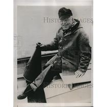 1938 Press Photo Edward H Ten Eyck head Syracuse University crews