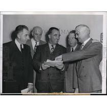 1946 Press Photo Baseball Commissioner AB Chandler, Ford Frick,John Collins
