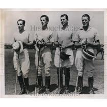 1939 Press Photo British polo members Bob Skene, John Laken, Gerald Balding