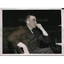 1937 Press Photo Al Simmons of Washington Senators at SEC hearing - nes34670